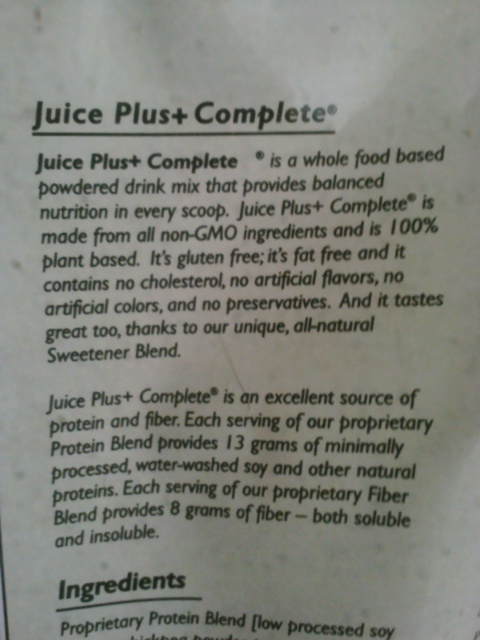 Juice Plus Complete Protein