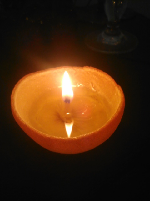After-Orange Candle