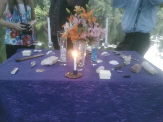 Altar set up