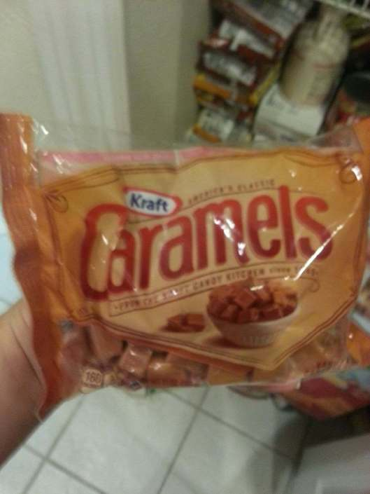 One bag of Kraft Caramels (14 or 16oz I believe)