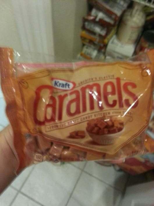 One bag of Kraft Caramels (14 or 16oz I believe)