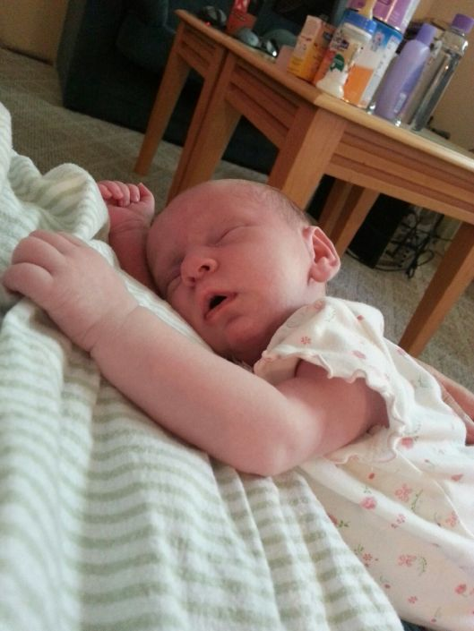 Miss Avory at two weeks